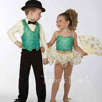 Sequin Camisole Ballet Dresses For Girls Couple models 3-piece Dance Costumes For Boys C423