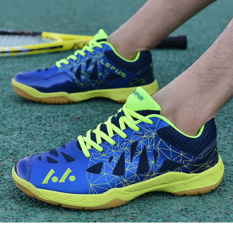 PUAMSS Men Sneakers Badminton Shoes High Quality EVA Muscle Anti-Slippery Training Professional Women Sport Shoes Plus