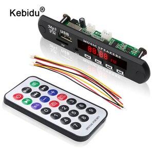 Image 1 - Kebidu לא Bluetooth MP3 WMA WAV מפענח לוח MP3 נגן רכב אודיו USB TF רדיו FM מודול 5V 12V עם שלט רחוק לרכב