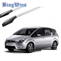 BingWins Car styling for Ford S MAX car roof rack aluminum alloy luggage rack punch Free 1.7 meters