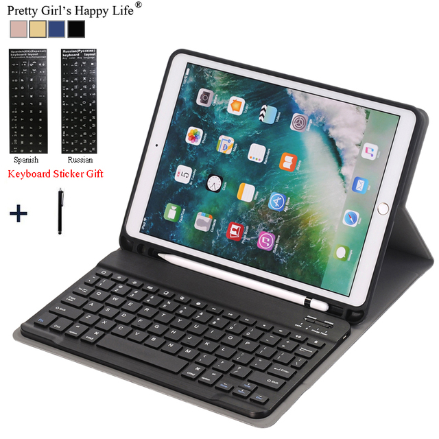 For iPad 2018 A1983 Case For iPad Air 2 Detachable WiFi Bluetooth Keyboard  Leather Cover For iPad 2017 9.7 Funda+Pencil Holder d29ed7ed34c5