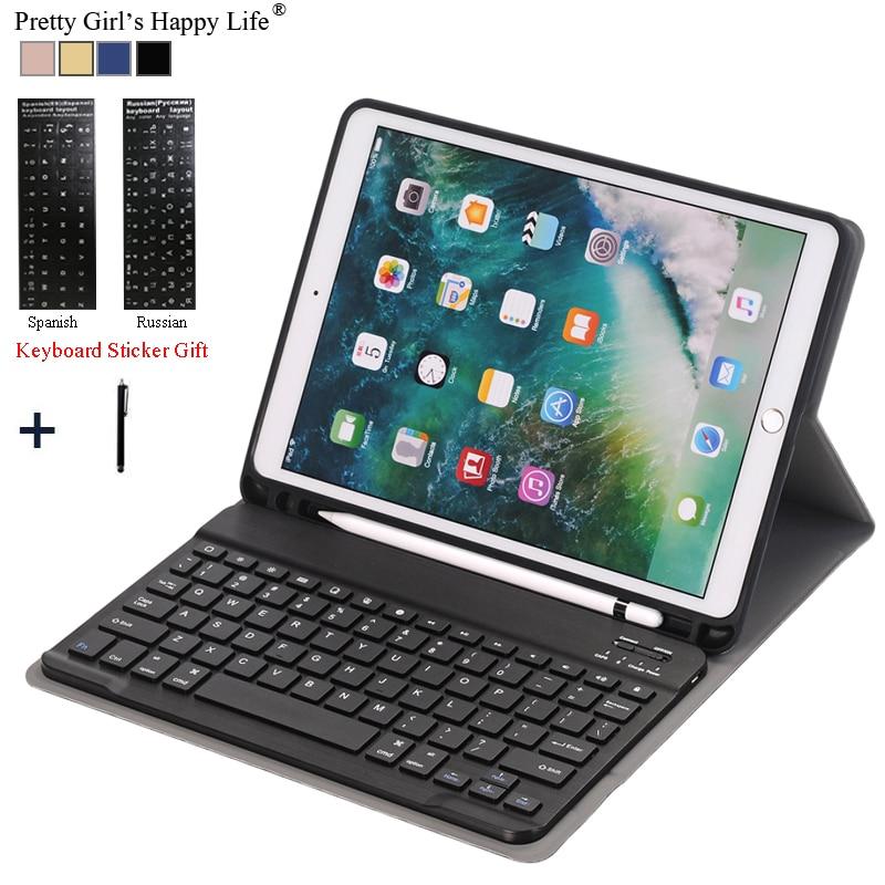 Per iPad 2018 A1983 di Caso Per iPad Air 2 Staccabile WiFi Copertura del Cuoio Della Tastiera di Bluetooth Per iPad 2017 9.7 Funda + Supporto della matita