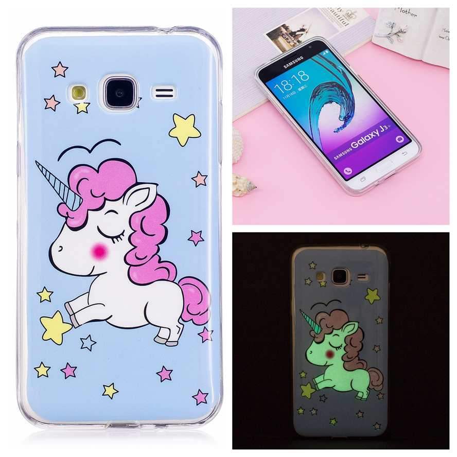 silicone luminous case for coque samsung galaxy j3 2016 case cover for coque samsung j3 j3