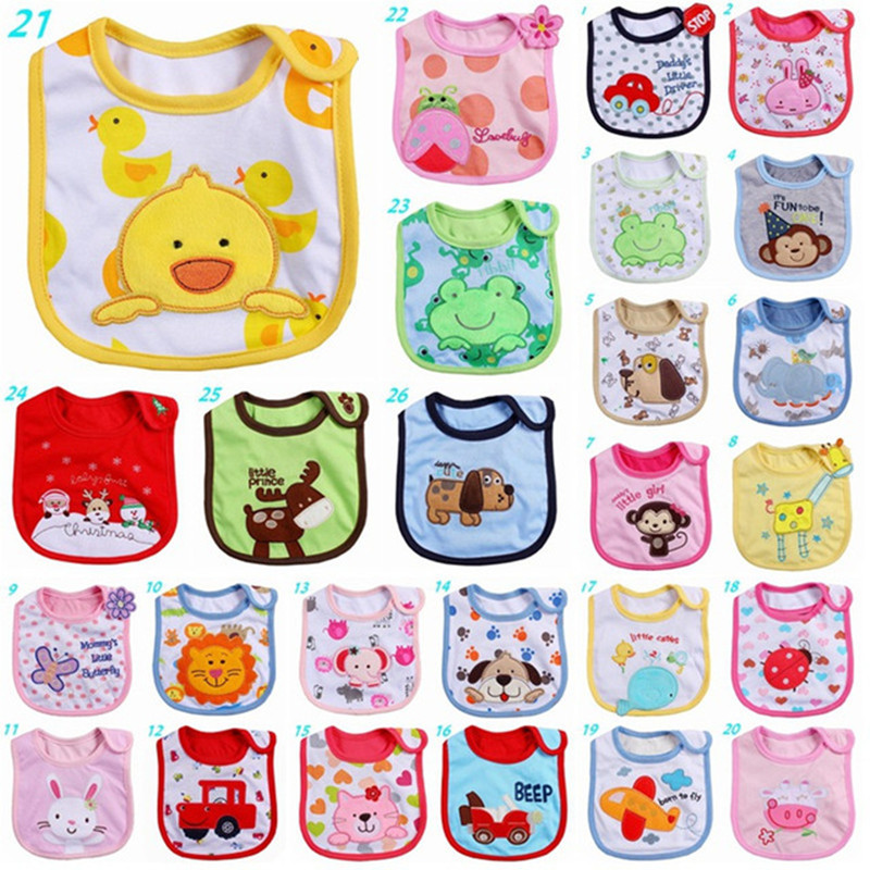 40 Stil 0-3 år Baby Girl Boy Vanntett Cartoon Håndkle Kids Toddler Dinner Feeding Baby Bibs