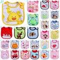 40 Style 0-3 Years Baby Girl Boy Waterproof Cartoon Towel Kids Toddler Dinner Feeding Baby Bibs