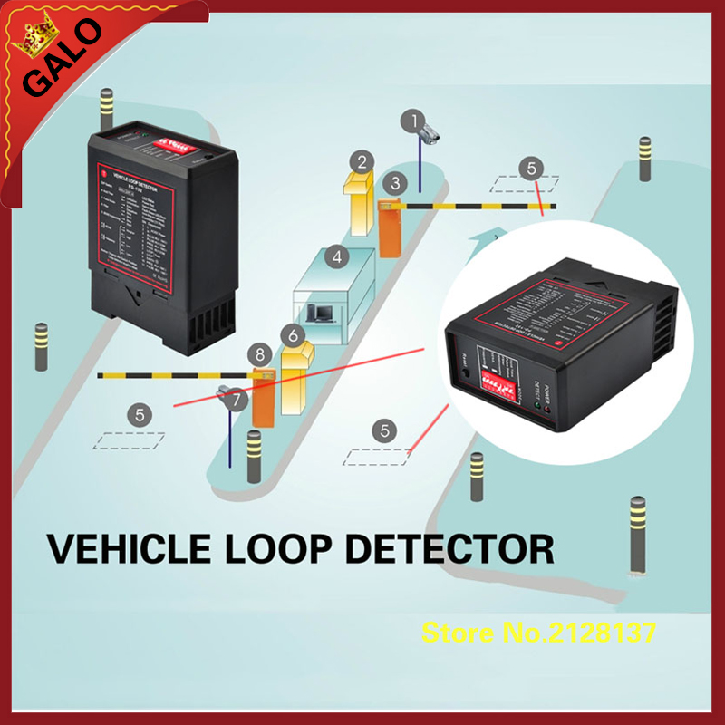 PD132  inductive VEHICLE LOOP DETECTOR controller module,loop sensor for vehicle access uvm 30a uv sensor detector module black