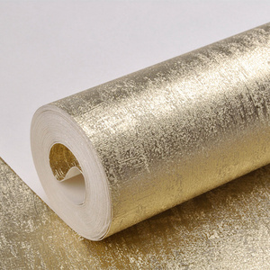 Image 3 - Luxury Gold Wallpaper Roll Home Decoration Washable Light Reflect Wall Coverings Sparkle Gold Foil Wall Paper