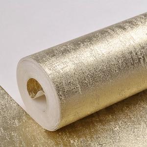 Image 3 - Papier peint or de luxe rouleau décoration de la maison lavable lumière refléter les revêtements muraux étincelle feuille dor papier peint