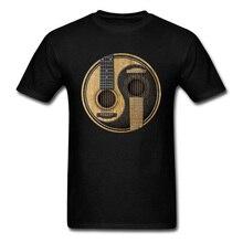 T Shirt Men 3D Tshirt Yin Yang Guitar Printed T-shirts Custom Tees 2018 New Black Clothes Short Sleeve Vintage Band Tops Fitted