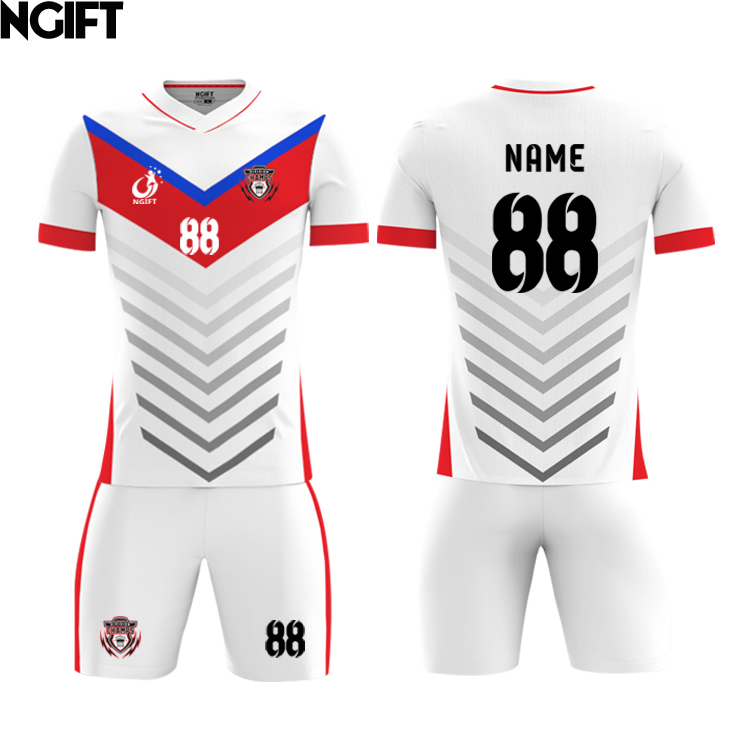 Ngift jersey of football jersey shirts custom football equipment Kids Football sublimation custom soccer jersey