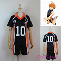 New Arrival Anime Karasuno High School Haikyuu!! Cosplay Costume No.10 Hinata Shyouyou Jerseys