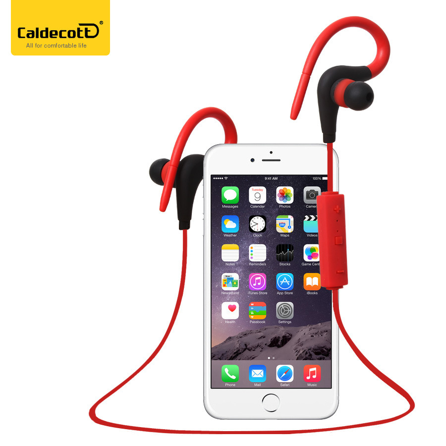 Caldecott BT-48 Bluetooth headphones Sport headset Wireless Earbuds stereo With Bluetooth earphone for xiaomi iphone android remax 2 in1 mini bluetooth 4 0 headphones usb car charger dock wireless car headset bluetooth earphone for iphone 7 6s android