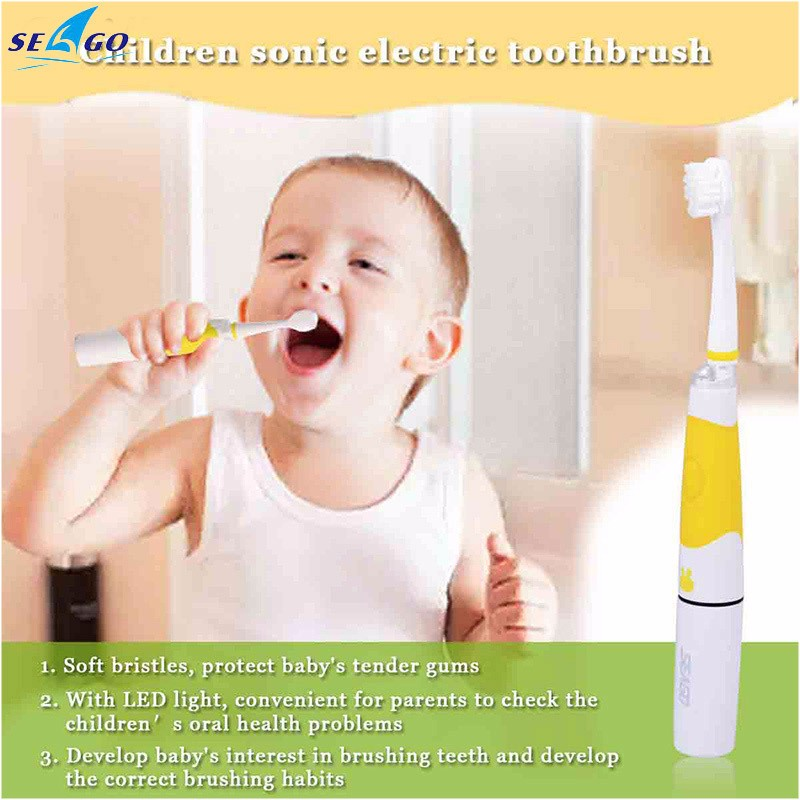 Children's Toothbrush for 4-16 Years Fashion Health Electric Tooth Brush Sonic Toothbrush Electric with Replacement Heads sg-618 4pcs compatible with hx7004 replacement brush heads for applicable to philips hx7001 e series sonicare toothbrush soft bristles