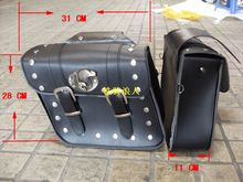 motorcycle accessories saddle bag cruising vehicles into side rear riding side box package Bag Free shipping
