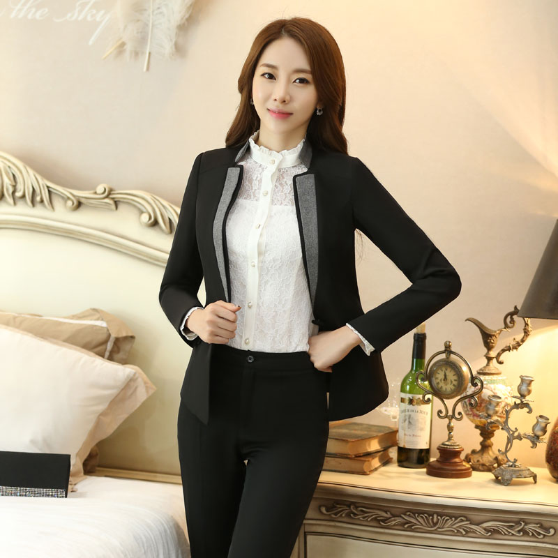 Professional New Arrival Autumn Winter Jackets Coat For Business Women Blazers Ladies Tops Blaser Female Outwear Blazer ...
