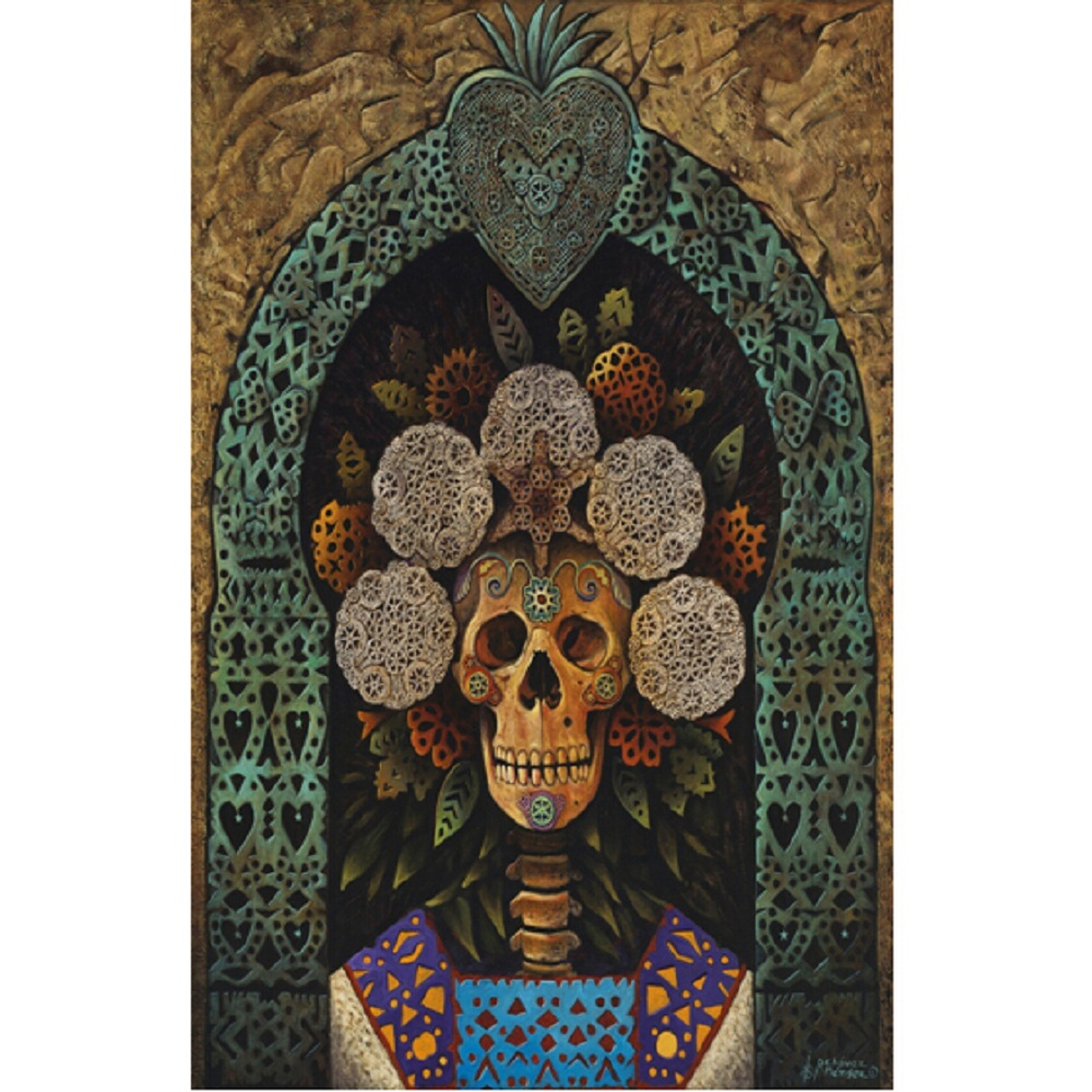 Online coloring mosaics - 5d Diy Diamond Embroidery Cross Stitch Skull Flowers Decor Painting Full Square Rhinestone Mosaic Halloween Pictures