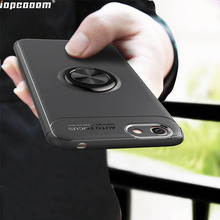 Luxury Case For VIVO Y53 2017 Rotating Finger Ring Holder Matte Soft Silicone Back Cover Coque 6.2inch