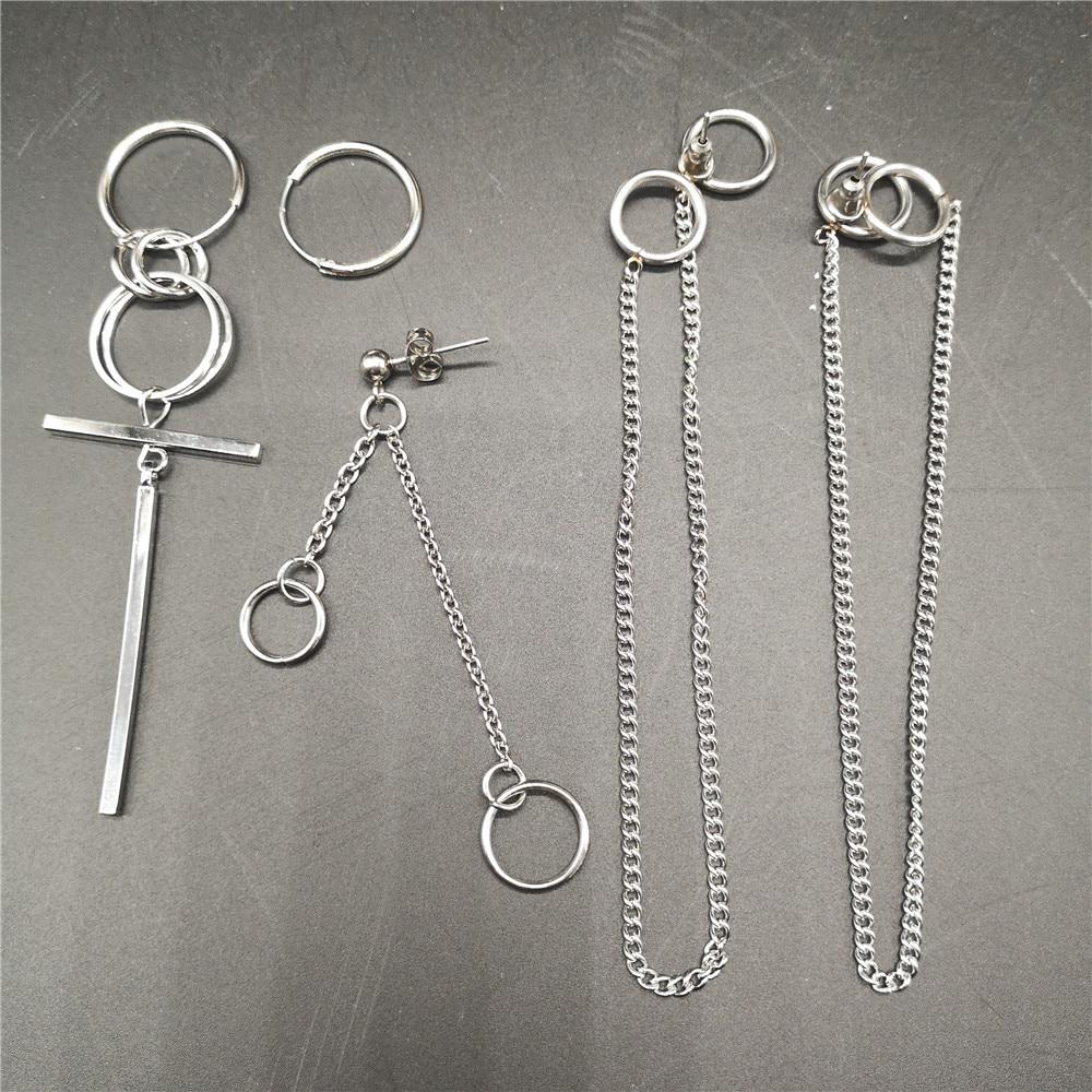 KPOP DNA Korean Punk Earrings Earrings Long Men Bangtan Boys V Earrings For Women Men Album Accessories 5pcs /set