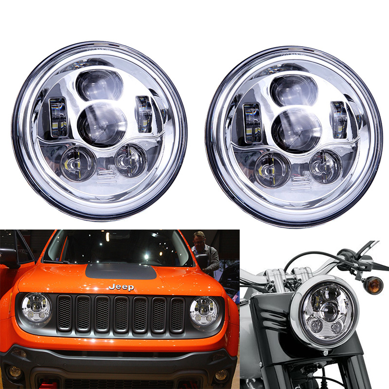 For Jeep Wrangler JK TJ LJ CJ Rubicon Sahara Hummer H1 H2 7 INCH Round led Daymaker Headlights High/Low Dual Beam headlamp high power 7inch round led headlight for jeep wrangler jk tj lj cj willys wheeler unlimited rubicon hummer land rover defender