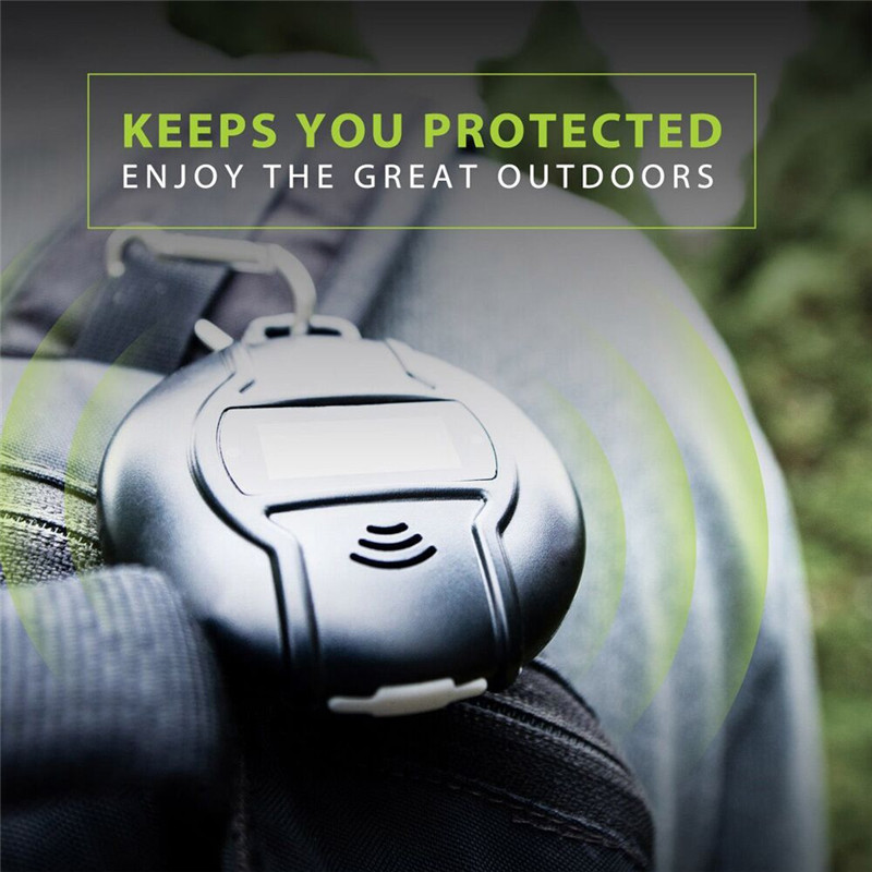 Outdoor Portable font b Electronic b font Mosquito Repeller Hook Type Pest Repeller Solar Ultrasonic Mosquito