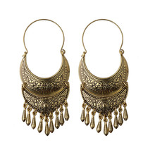 Bronze/Silver Vintage Ethnic South Jewelry Gold/Silver Tone Oxidized Indian Earrings Jhumka Jhumki