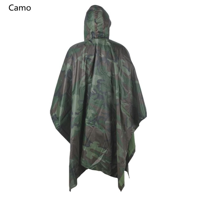 rain jacket multifunction military raincoat emergency camo rain