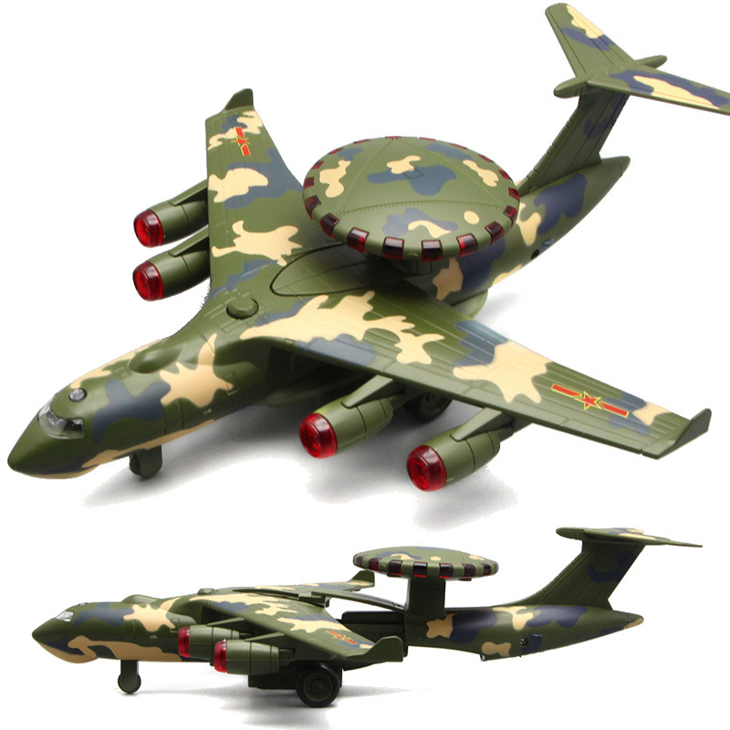 US $23 22 14% OFF|1:28 Airborne 3000 Military Airborne Early Warning  Aircraft Alloy Model Lights Acoustic Military Pull Back Helicopter Model  Toys-in