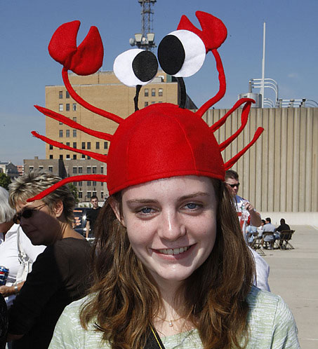 Party Red crab hat birthday halloween Christmas fancy hat masquerade ball accessories adjustable