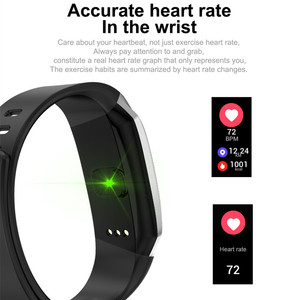 Image 5 - AMYNIKEER E18 חכם צמיד קצב לב צג גשש כושר IP67 עמיד למים ספורט שעון עבור אנדרואיד ו IOS חכם שעון גברים