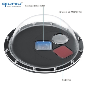 Image 2 - QIUNIU Underwater Waterproof Switchable Filters Dome Port Lens Cover Float Hand Grip for GoPro HERO 5 6 7 Black Go Pro Accessory