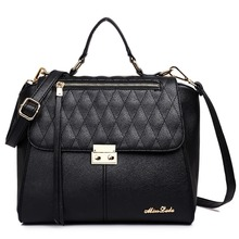Classic and fashionable ladies girl handbags school bags shoulder bags textured leather casual toes