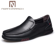 NORTHMARCH Business Shoes Men Oxford Genuine Leather Spring Summer Breathable Men Shoes Office Slip-On Driving Shoes Mens northmarch spring fashion casual driving shoes genuine leather men shoes breathable comfortable flats shoes men herenschoenen