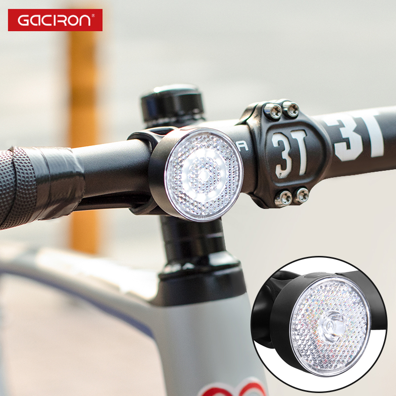 GACIRON 10/20 LM Smart Bicycle Warning Front Light Bike Spotlight Floodlight Safe Warning Taillight IPX6 Waterproof Accessories