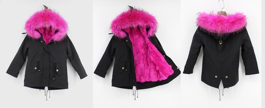 childred winter natural fur parka (11)