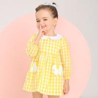 Kids Girls Plaid Dress Long Sleeve Dress For Little Girl 2017 Spring New Arrival Girls Brand