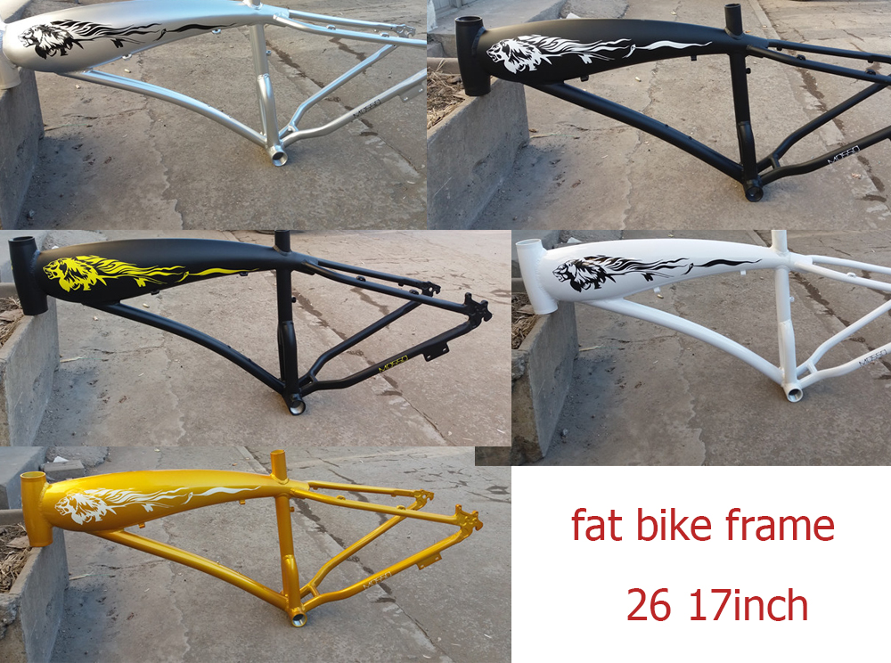 цены 26 17 inch Snow frame 4.0 tire  tyre frame beach  aluminum alloy fat bike frame