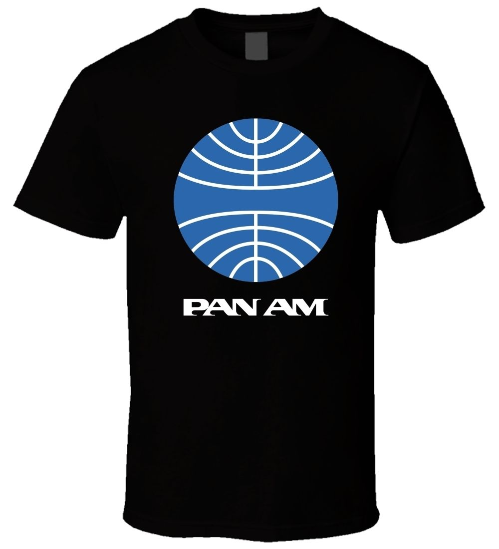 Gildan Pan Am 4 Black Men T Shirt Size S - 5XL