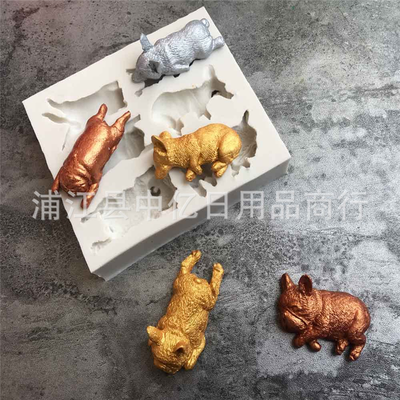 US $8 2 17% OFF|Dog Shaped Silicone Cake Mold Chocolate Candy Tool Craft  Fondant Cake Decoration Tools kitchen Pastry Mold-in Cake Molds from Home &