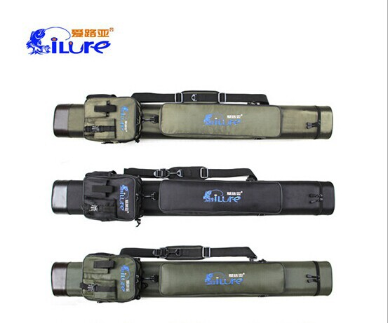 Blazers double pole tube Lures fishing rod cylinder can put four small leg bag with lure rod one set is tube + mini bag