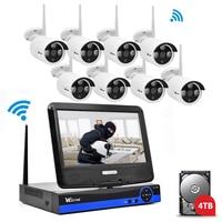 Wistino 1080P Wifi Kit CCTV System Wireless 8CH NVR Security IP Camera Outdoor P2P Monitor Kits