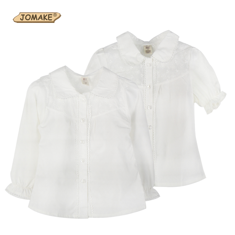 Girls Blouse Casual Kids School Shirt Long Sleeve Short