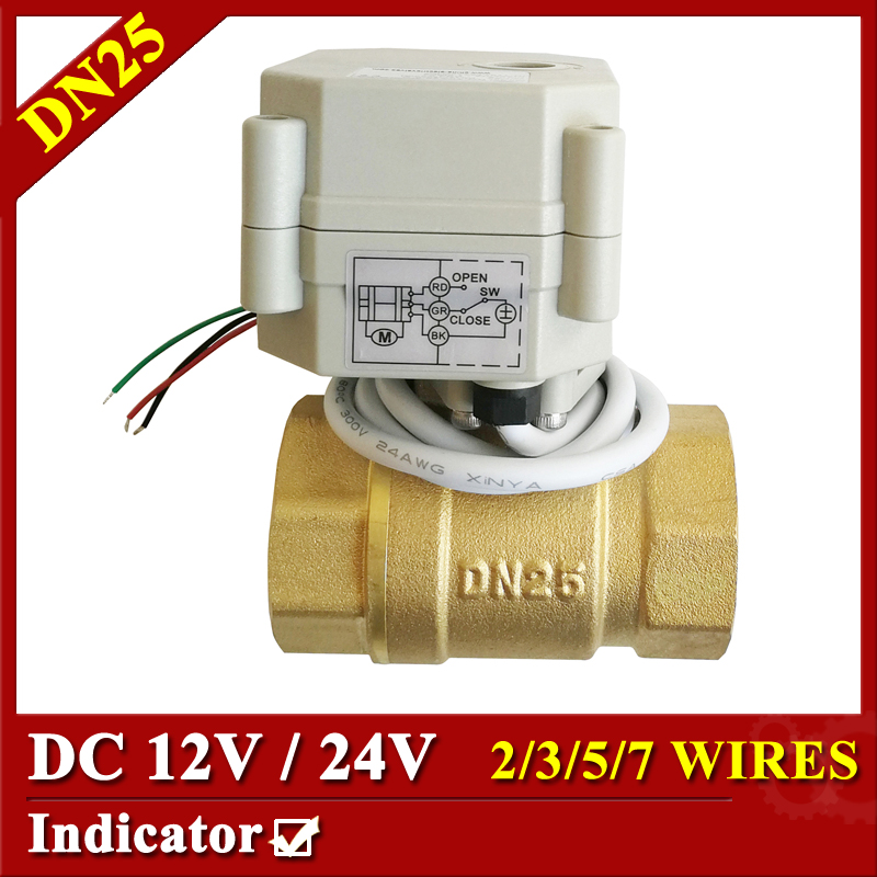 12VDC 24VDC Electric Valve 2/3/5/7 Wires Metal Gear Motorized Ball Valve With Indicator Hot Sale Brand Tsai Fan Actuated Valve tsai fan motorized ball valve 2 ac110 230v 2 5 wires electric valve dn50 upvc ball valve normal close open for hvac systems