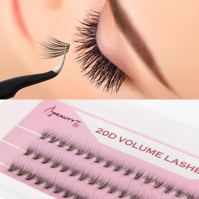0bbbaa59709 BEAUTY7 1Box C Curl 0.05mm 8~12mm 20D Mixed Eyelash Extension Mink Lashes  False