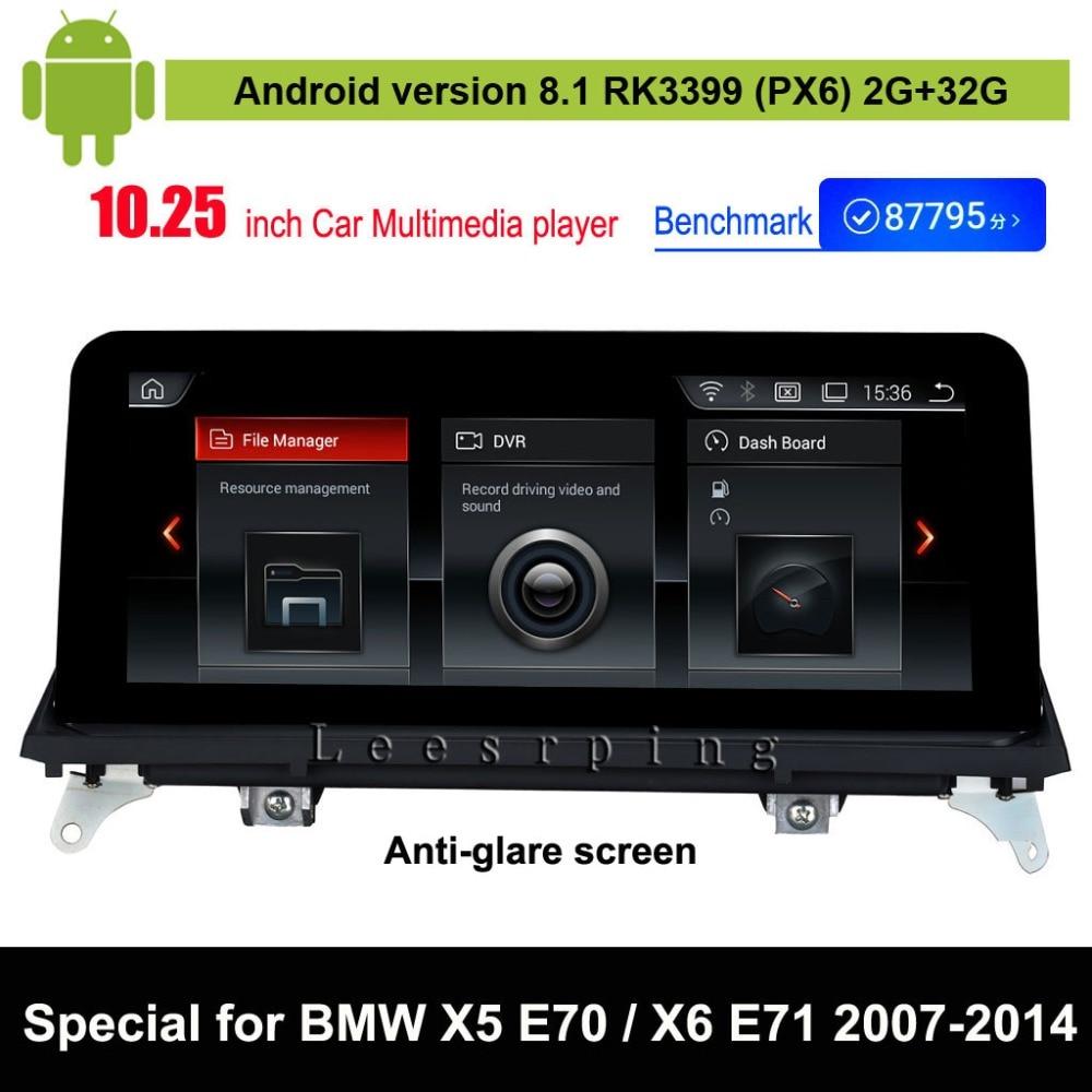 Android 8,1 Автомобильный мультимедийный плеер для BMW X5 E70 (2007 2013)/для BMW X6 E71 (2007 2014) Авто gps навигации