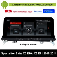 Android 8.1 Car Multimedia Player for BMW X5 E70 (2007 2013)/ for BMW X6 E71 (2007 2014) Auto GPS Navigation