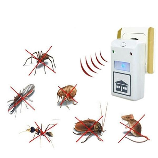 2019 Latest Ultrasonic Electronic Repeller New White Riddex Plus Electronic Pest Rodent Control Repeller 220V