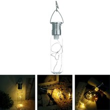 Solar Led Copper Wire Bottle Hanging Lamp Home Curtain Decor LED Wedding Party Hanging Lighting Romantic