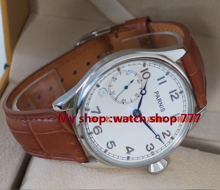 PARNIS ST3600 /6497 Mechanical Hand Wind goose neck movement  mechanical watches mens watch white dial wholesalePARNIS ST3600 /6497 Mechanical Hand Wind goose neck movement  mechanical watches mens watch white dial wholesale