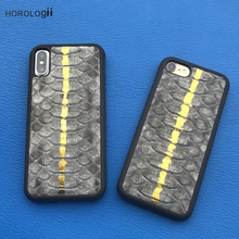 Luxury 3D Natural Python Skin Leather cell phone case for apple iphone 5 6 6s 5s SE plus iphone 7 case mobile phone back cover