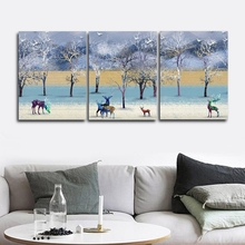The Nordic Style of Elk Wall Picture Poster Print Canvas Painting Calligraphy Decor for Living Room Bedroom Home Frameless